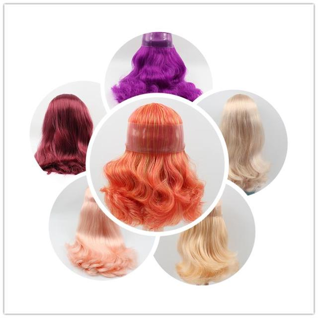 Blyth doll scalp wig doll accessories long hair multiple for RBL B female modified DIY baby special blyth doll accessory