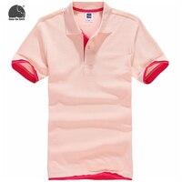 EnjoytheSpirit 2017 Men Polo Shirt Casual Cotton Polyester Men Polo Shirts Pink Solid Polo Shirts Mens