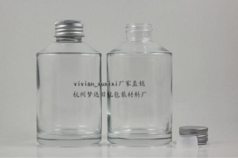 d6a961747f8ac 200 ml jasne Szklanej butelce z matowego srebra aluminiową nakrętką i  reduktor