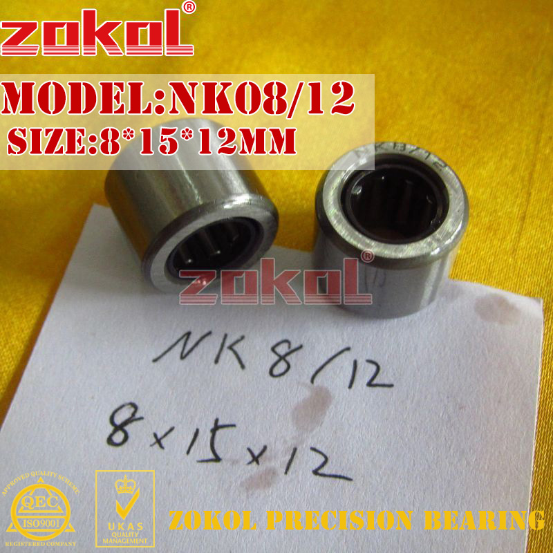 ZOKOL bearing NK08/12 needle roller bearings with-out inner ring   (NKI5/12)  8*15*12mm na4913 bearing 65 90 25 mm 1 pc solid collar needle roller bearings with inner ring 4524913 4544913 a bearing