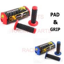 Motor pad with grip Taper Handlebar Bar Pad Fat Chest Protector Cross Bar Fit 1-1/8 Handle Bar Motorcycle Dirt Bike Pit Bike QX bulls cross bike 1 2016