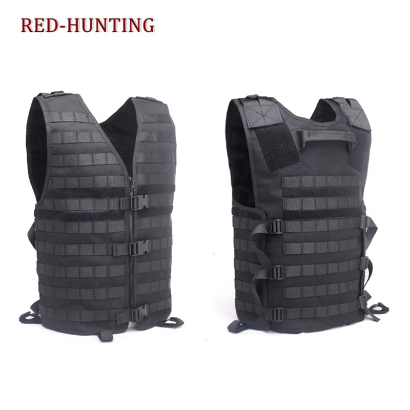 New Men's Molle Tactical Vest Hunting Gear Load Carrier Vest Sport Safety Vest Hunting Fishing With Hydration System