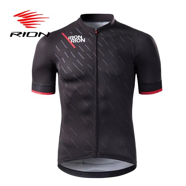 RION Ciclismo Jerseys dos homens Mangas Curtas Ciclismo MTB Mountain Bike Motocross Downhill Quick Dry Da Bicicleta Profissional Camisa Topos