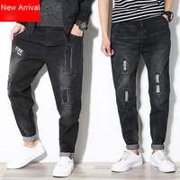 New Arrival Men S Autumn Winter Harem Pant S Big Size L 7XL Male Jeans Hole