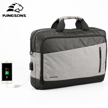 Kingsons 15.6 inch Large Space and High Quality  Casual Men Totes USB Charging Shoulder Crossbody Bags Men's Messenger Bag