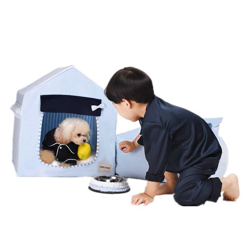 Chenil en peluche coréen quatre saisons universel amovible chien maison loi Bomei Schnauzer petit chien animal de compagnie ver