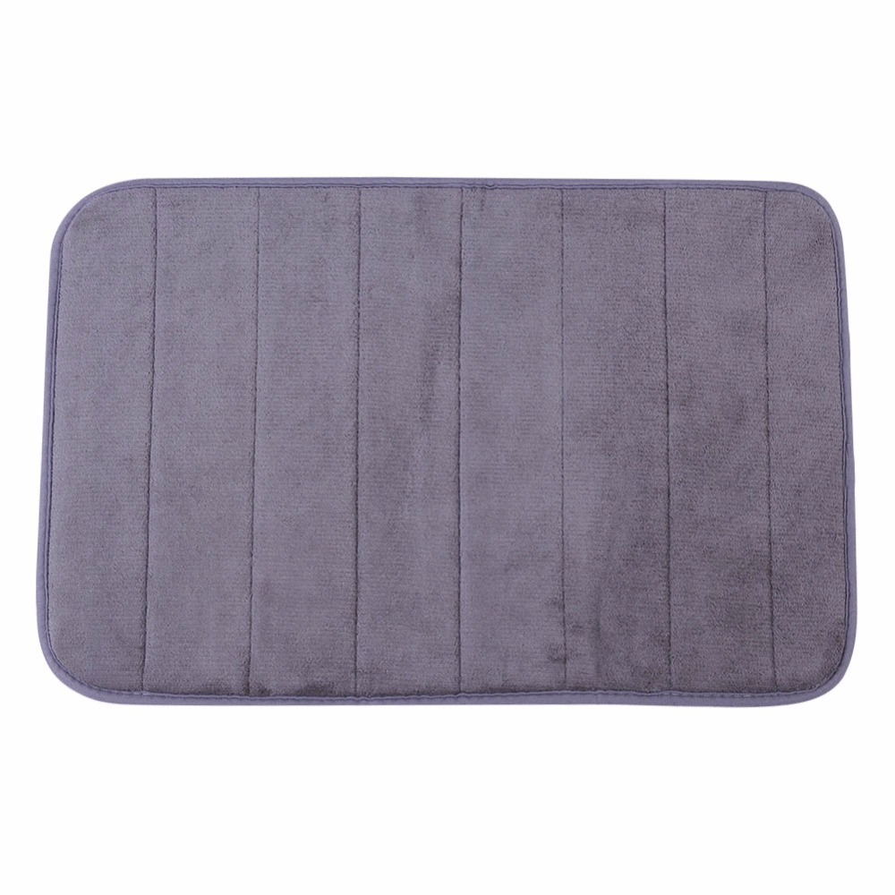 1PCS Memory Foam Bath Mat Non-slip 7 Colors Available 40*60cm