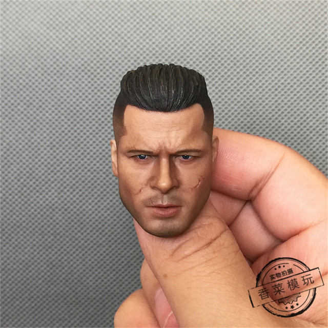 Us 30 9 Dreamer 1 6 Action Figure Toys Brad Pitt Mohican Hair Style Fury Scar The Face Headplay In Action Toy Figures From Toys Hobbies On
