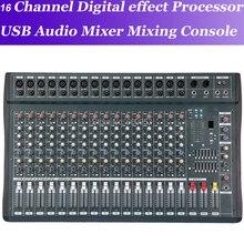 Mixagem de áudio com usb 48 v micwl 16 canais misturador de áudio