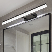 Modern Bathroom LED Vanity light Wall lamp indoor bedroom Black Silver Gold Mural mirror Lighting Wall Lamp sconce fixtures