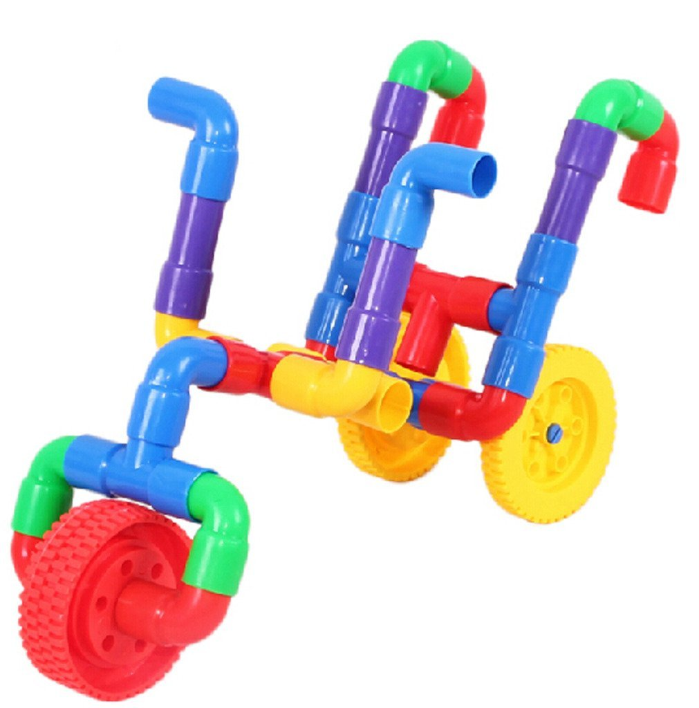Building Toys For Babies : Jingq plastic pipeline horn construction assembling diy