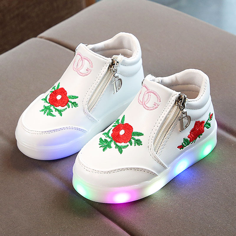 Luminous sneaker girls,Girls glowing sneakers,Shoes for baby girls,Childrens shoes,Girls shoes with luminous sole fashion BS031 ...