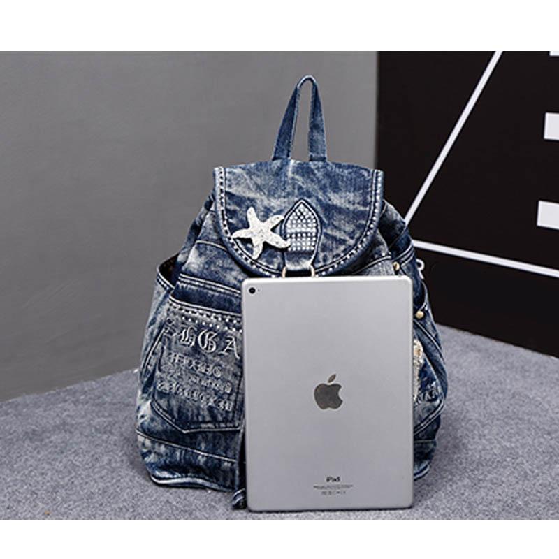 iPinee vruće prodaja mochila feminina ženski ruksak traper ruksak - Ruksaci - Foto 5
