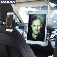 Cobao 7 11 inch Aluminum long arm tablet stand car headrest backseat mobile phone tablet holder accessories for car Ipad Iphone