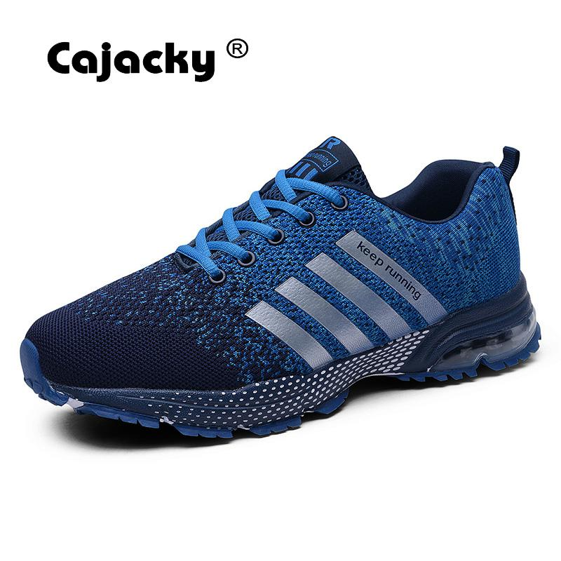 Cajacky Men Casual Shoes Plus Size 47 48 Unisex Sneakers 2018 Summer Autumn Trainers Male Krasovki Breathable Lightweight Shoes cajacky unisex sneakers 2018 mesh casual shoes men mesh lace up male fly weave krasovki men fashion light breathable trainers