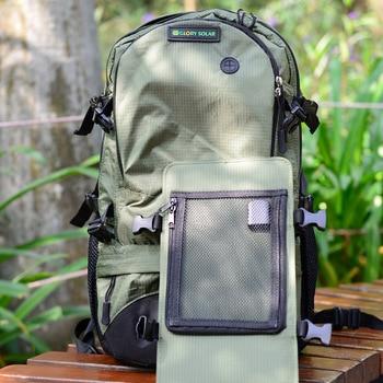 Solar backpack solar charging travel bag men and women shoulder bag mobile phone charging backpack 2