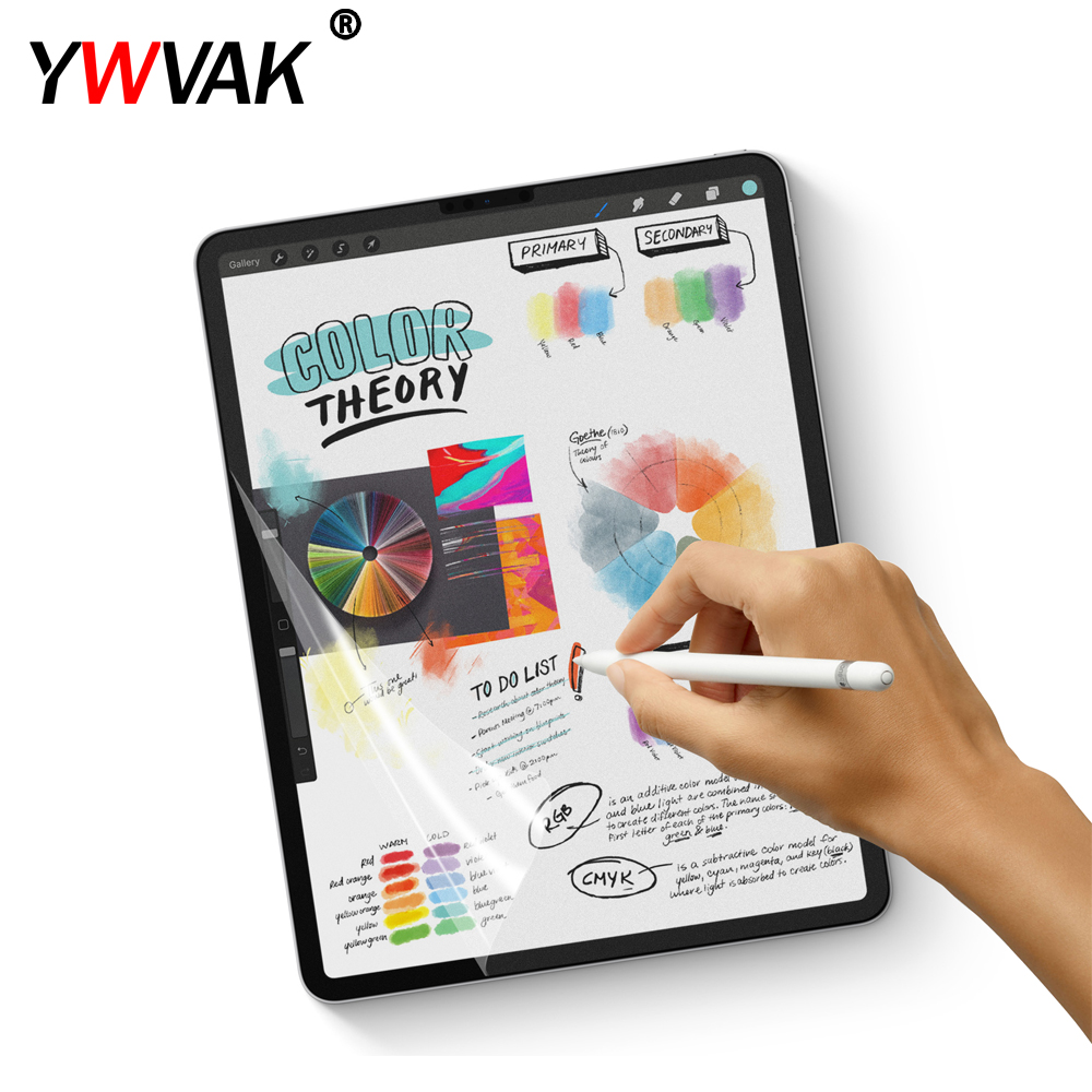 YWVAK Paper Like Screen Protector Film Matte PET Anti Glare Painting For Apple iPad mini 5 9.7 10.5 Face ID 11 12.9 inchYWVAK Paper Like Screen Protector Film Matte PET Anti Glare Painting For Apple iPad mini 5 9.7 10.5 Face ID 11 12.9 inch
