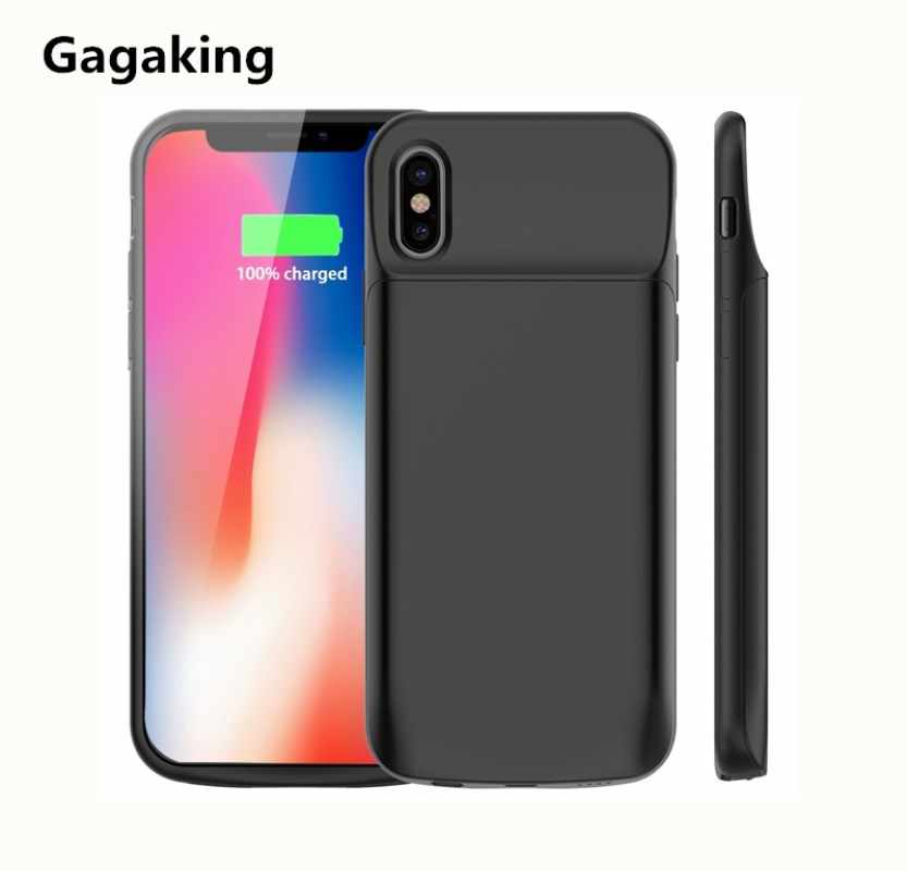 buy popular 37046 d1496 Gagaking Newest External battery case for iphone X XS XSmax XR Portable  charger case for apple X 6000mAh ultra slim power bank