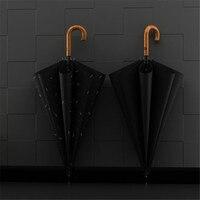 Long Handle strong windproof Semi automatic long umbrella men large man and women Business umbrellas mens Custom logo WZP229