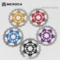 MEROCA MTB Mountain bike floating disc Bicycle brake pads Six nails Brake disc 180 160MM 203