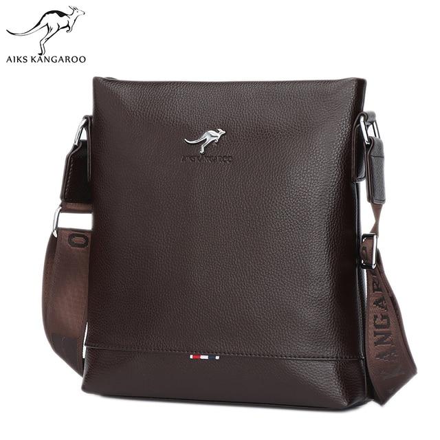 Aiks Kangaroo Casual Office Bags for Men Designer Handbags Men s Messenger  Bags Male Black Crossbody Fashion Shoulder Man Bag 5ec90a7b4454c