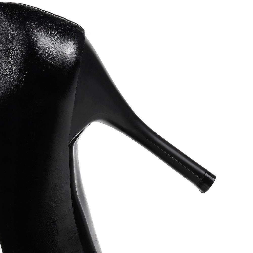 LAFS CSTLAV Dasar Tumit Tinggi 9 cm Pompa Wanita Nyaman Gaun Kasual - Sepatu Wanita - Foto 4
