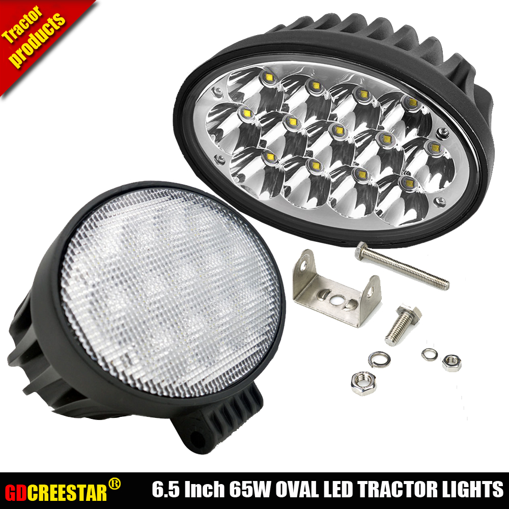 65W Oval LED Work Light Offroad Fog Lamp Car Auto Truck ATV Motorcycle Trailer Bicycle 4WD AWD 4x4 12v 24v Tractor lights x1pc ...