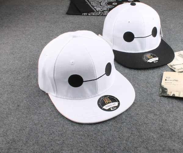 5951b12d596 Movie Big Hero 6 Baymax Snapback Hat Cosplay Adjustable Unisex Embroidery  Summer Sun Baseball Cap-in Baseball Caps from Apparel Accessories on ...