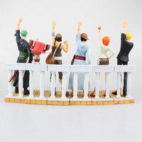 Аниме одна часть драматический витрина первого сезон луффи зоро нами Usopp санджи чоппер PVC фигурки коллекционные игрушки 6 шт./компл.