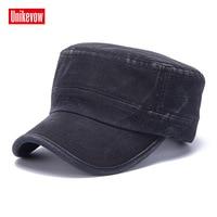 UNIKEVOW хлопковая кепка в стиле милитари Спортивная вышитая гладкая шляпа для мужчин и женщин Военная Кепка