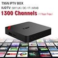 Europeu Caixa De IPTV Android TV Caixa Céu Receptor IPTV 1300 + Canais Sky Francês Turco Holanda Melhor Do Que MXV Android Caixa de TV