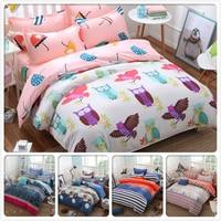 Owl Cute Animal Child Kid Duvet Cover 1.5m 1.8m 2m Bed Sheet King Queen Double Size 4pcs Bedding Set Bedclothes AB Side Bedlinen