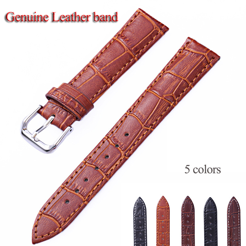 Genuine Leather Watch Band men &women Strap Connect Width at12 14 16 18 20 21 22 24mm  Fashion Brown Black Leather Watchband new design 16mm width women fashion leather watch strap watch band j21