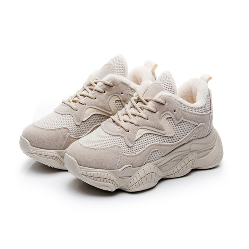 Winter Shoes Women Chunky Sneakers With