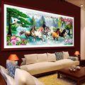 Acht steeds bild pferde Chinesischen stil Bricolage kreuzstich kits DMC Gedruckte Stickerei DIY Handarbeit Wand dekor-in Paket aus Heim und Garten bei
