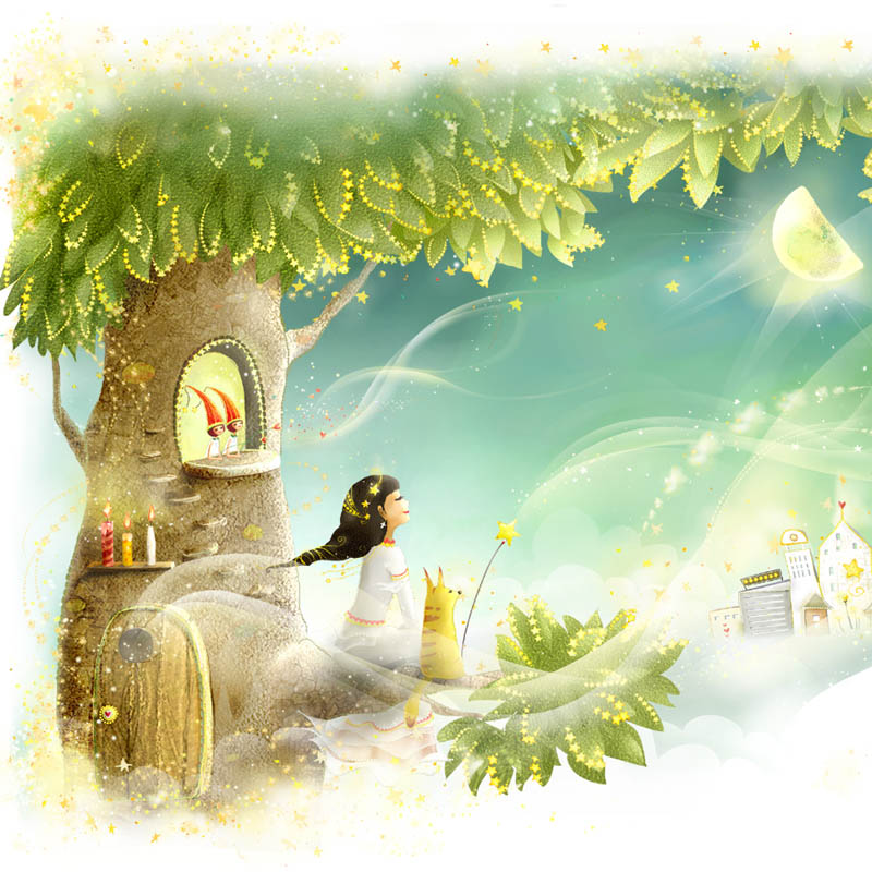 fairy tale world heaven Can be customized large murals European children room background wallpaper wall paper murals child room