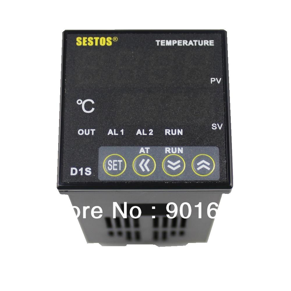 Sestos Dual Digital Pid Temperature Controller 2 Omron Relay Output Black D1s-vr-220