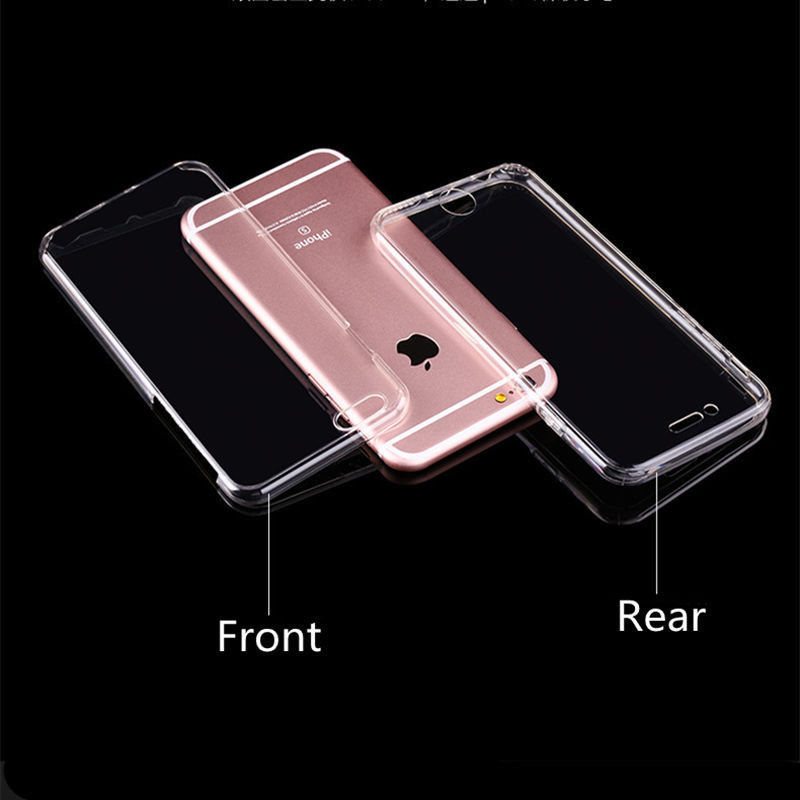 360 Full Body Front Back Silicone TPU Soft Gel Protective Case