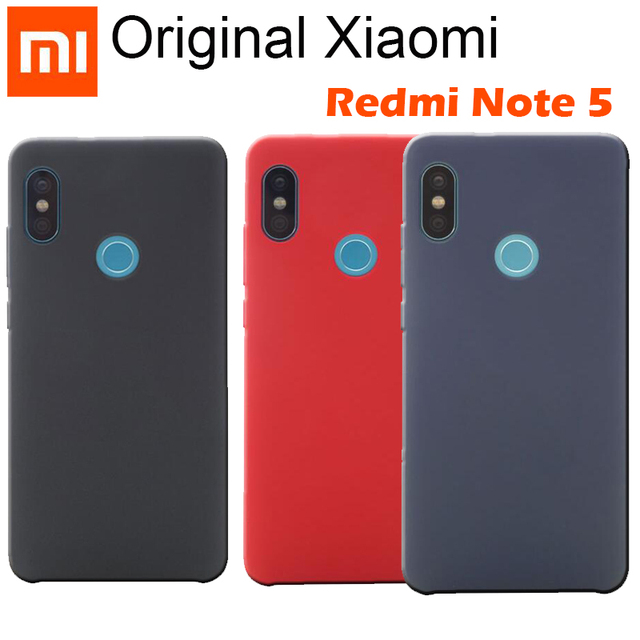 on sale 45b32 7684a US $2.88 20% OFF|Original Xiaomi Redmi Note 5 Pro Case Cover 5.99