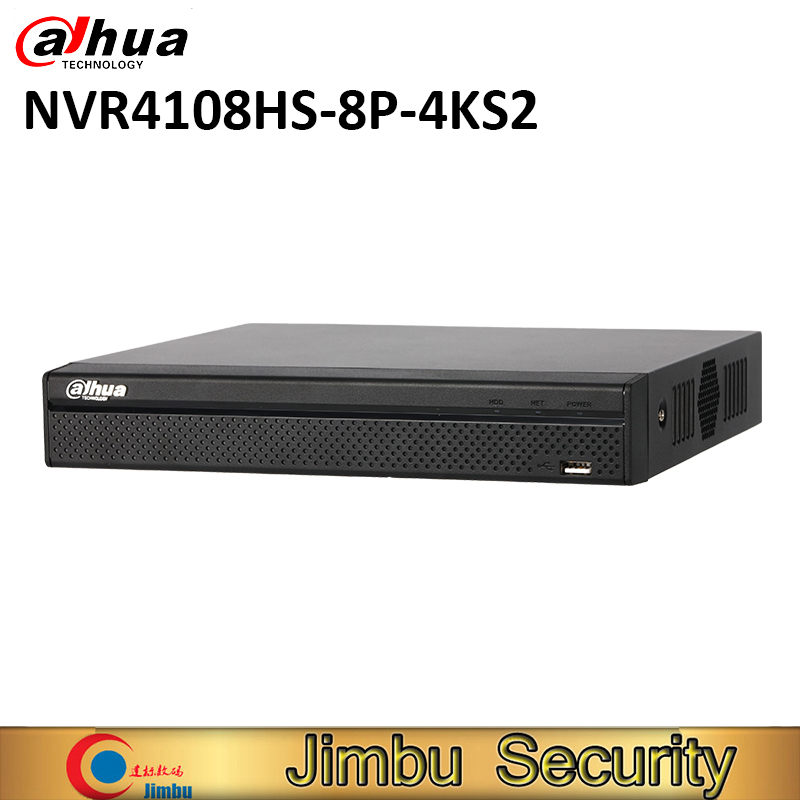 Dahua NVR video recorder NVR4108HS 8P 4KS2 8MP 8POE 4K&H.265 Up to 8MP Resolution heat map tripwire instrusion people counting Surveillance Video Recorder Security & Protection - title=