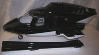 new Airwolf 600 W/ open doors Airwolf Scale Fuselage Bell 222 W/metal Retracts&Parts for 70 scale VS airwolf 700 P5