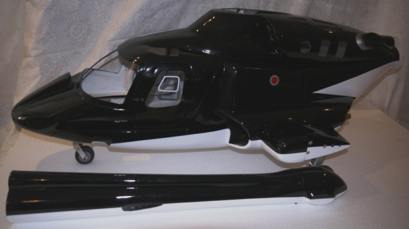 new Airwolf 600 W/ open doors Airwolf Scale Fuselage Bell 222 W/metal Retracts&<font><b>Parts</b></font> for 70 scale VS airwolf <font><b>700</b></font> P5 image