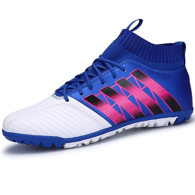 Zapatillas de fútbol altas para niños grandes botas de fútbol de interior  Zapatillas de deporte para b4a7f5f305329
