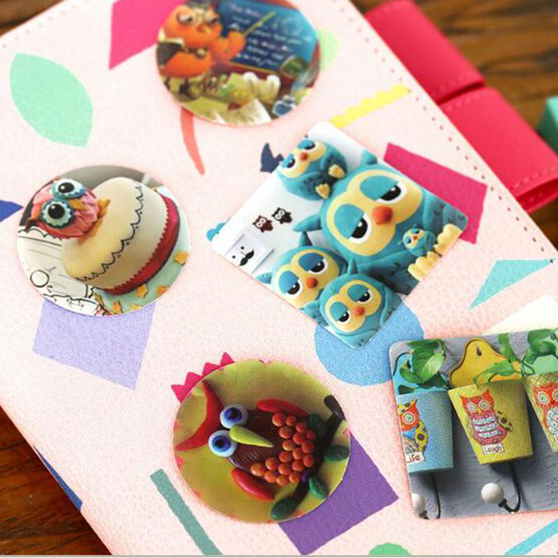 Купить с кэшбэком Creative Cute Owls Paper Sticker Decoration DIY Ablum Diary Scrapbooking Label Sticker Kawaii Stationery 46 pcs/lot