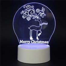Merry Christmas Deer Santa Bucks LED 3D NightLight Acrylic Night Lamp Light Touch And Remote Lamps Lights Kids Decoration Mylamp