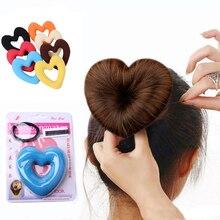 LOEEL Hair Donut Bun Heart Maker волшебный Поролоновый спонж инструмент для укладки волос Принцесса Прическа резинки для волос аксессуары для волос для женщин