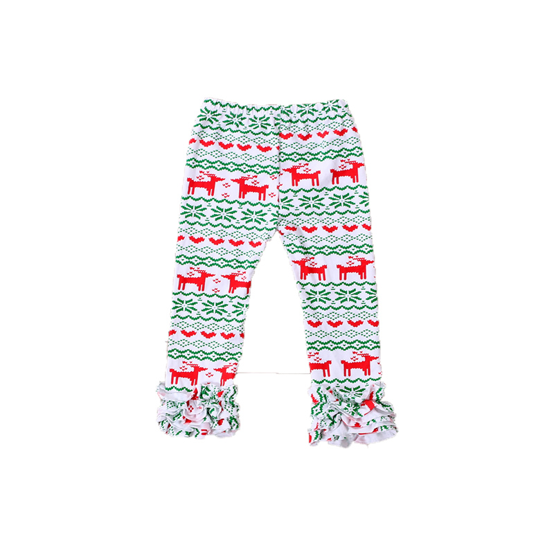 Kerst Triple Knit Herfst Baby Meisjes Ruche Broek Groothandel Elanden Patroon Baby Legging Kerst Icing Meisjes Pant Girls Pants Girls Ruffle Pantsruffle Pants Aliexpress