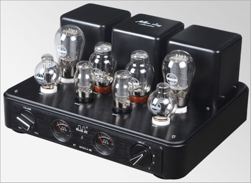MEIXING MINGDA MC300-ASE Vacuum Tube integrated Amplifier Full music 300B*2 single-ended Class A power Amplifier 8W*2 110V/220V music hall hifi power integrated tube amplifier ge5670 pcm2706 pga232 usb 2 70w tube preamp with remote control