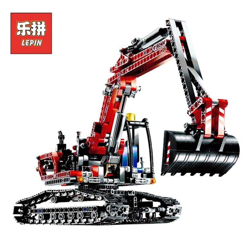 In Stock DHL Lepin Sets 20025 760Pcs Technic Figures Red Excavator Model Building Kits Blocks Bricks Educational Kids Toys 8294 in stock dhl lepin sets 37003 1959pcs