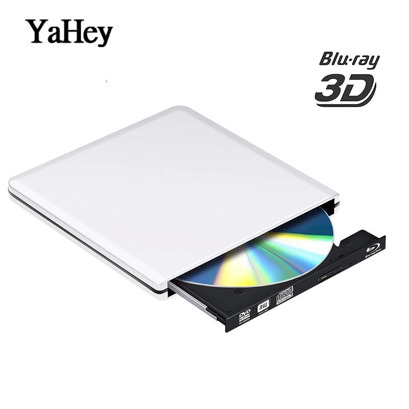 Bluray USB 3.0 External DVD Drive Blu-ray Combo BD-ROM 3D Player CD/DVD RW Burner Writer for Computers windows7/8/10 Mac ios